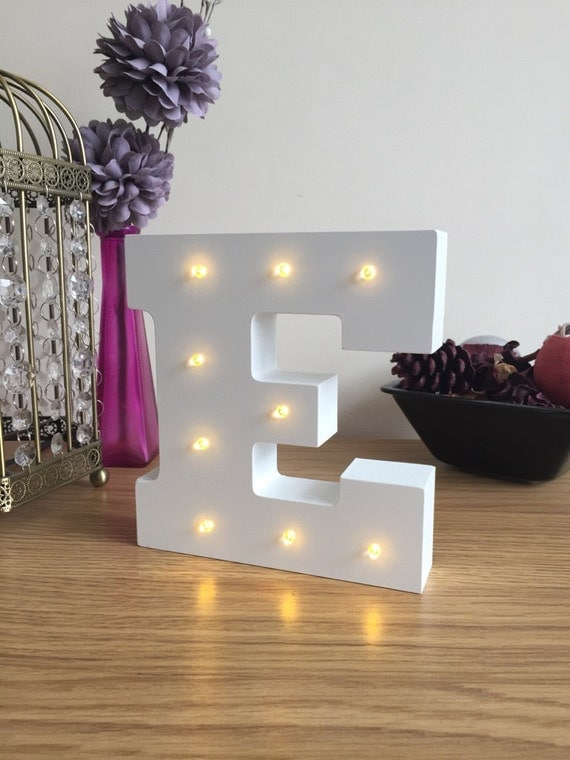 Freestanding LED White Light Up Letters 6 High by LoveLetterLights