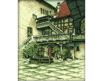 "Cross Stitch Kit RTO - ""Castle Courtyard"""