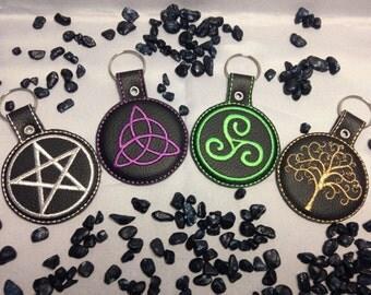 Keychain with pagan symbolism