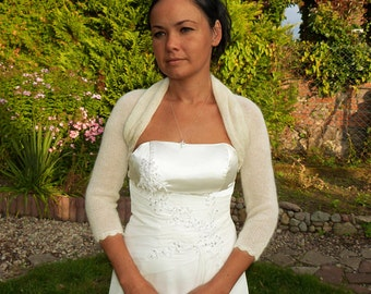 Elegant Cream Bridal Bolero Shrug, Wedding Bolero, Openwork Cream Bolero Shrug