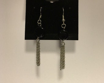 Glass Bead Chain Earrings
