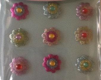 """Wholesale Lot of 3 packs Jolee's Boutique Cabochons """"Vibrant Flower"""""""