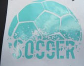 Soccer Ball Vinyl Decal - Car Decal - Computer Decal - Sports Decal