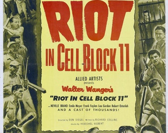Riot in Cell Block 11 Movie POSTER (1954) Drama/Noir