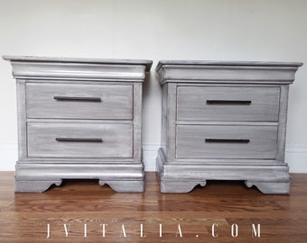 Sold Driftwood Gray Nighstands -Pair