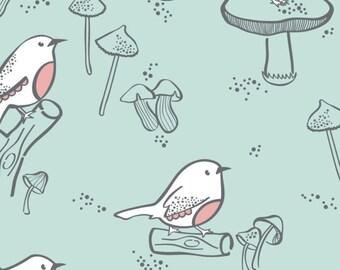 35% off - 2 yards Camelot Design Studio Collection - Little Bird - Birds in Aqua 2142901 #3