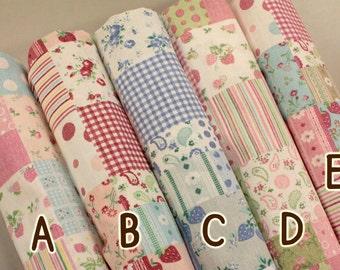 1/2 yard Yuwa Atsuko Matsuyama Japan - Fancy Patch II- 442650 - Linen Fabric