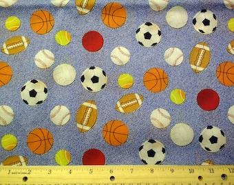 Sports Toss (Blue) Fabric