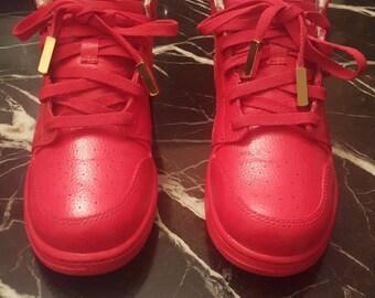 Fire Red- Jordan AJ 1's