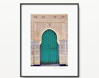 "Jade Darbar Islamic Print - Modern Islamic Wall Art - Instant Download - A4 and 8 x 10"""