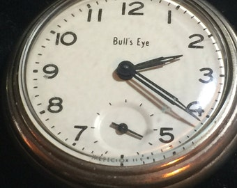 Westclox Bulls Eye Pocket Watch Working
