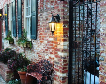 Red Brick Building in Georgetown, Washington DC, United States, Brick Facade, Travel Photography, Print