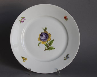 """Nymphenburg Flowers Cake Plate 7.48"""" in Diameter handpainted Germany #4"""
