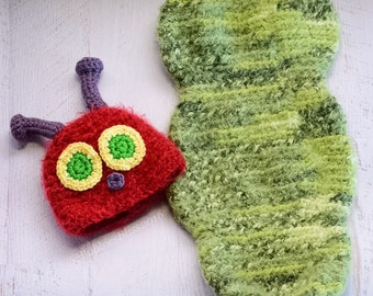 Crochet Caterpiller Cocoon: The Hungry Hungry Caterpillar Coccon set