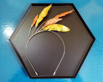 Feather Headband - Leather