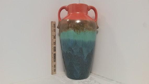 "Stangl Sunburst 15"" Decorated Rainbow Artware Vase #1328"