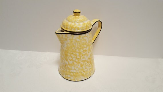 Stangl Yellow Town & Country 5 Cup Coffee Pot #5287