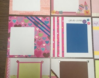 Baby Girl 8x8 Scrapbook with 10 premade pages