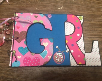 Girl scrapbooked word