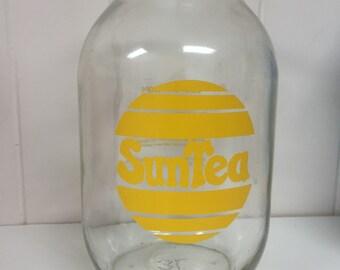 Sun Tea Glass Jar Retro Pitcher Recipe