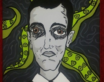 Hp Lovecraft original painting
