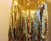 Vintage gold sequin bomber jacket