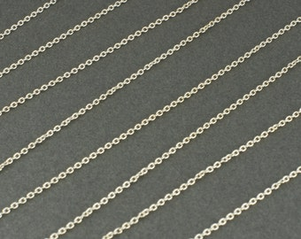 Sterling Silver Fine Cable Chain by the Foot **CLEARANCE SALE**