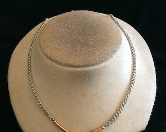 Vintage Two Tone Chain Necklace