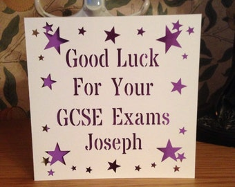 Good Luck Card - A Levels - AS Levels - GCSE's - SATs -  Finals - Driving Test - Interview - New Home - Personalised Card - Papercut