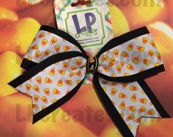 Clearance! Candy corn cheer-style bow