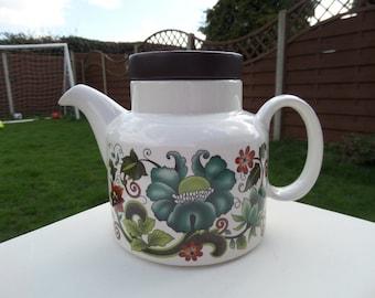 Floral Design Teapot Etsy