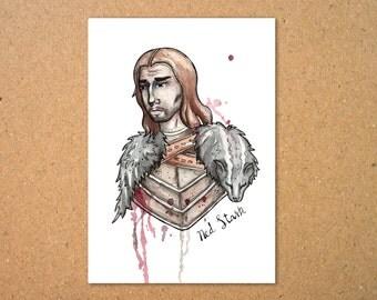 Original Ned Stark Illustration