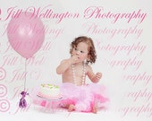 DIGITAL Birthday Balloon png overlay for photos, photography, photographers, pink