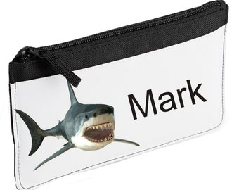 Personalised Shark Pencil Case