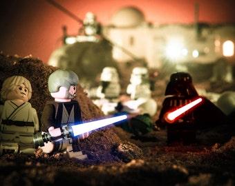 Star Wars Print - Lego Star Wars, Star Wars Poster, Obi-Wan, Lightsaber, Lego Photography - Lego Star Wars Photography Print