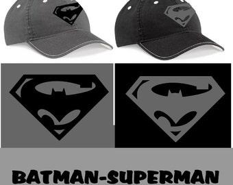 Batman Superman T Shirt  Baseball Cap Beechfield Top Quality