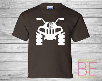 YOUTH 4 Wheeler ATV Monogram Gildan Brand Short Sleeve Tee