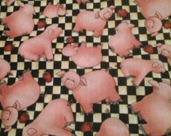 Pig Fabric 1 Yard Cotton