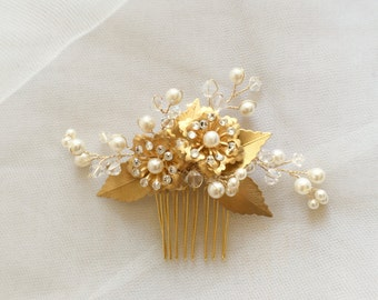 Frances - Gold wired hair comb