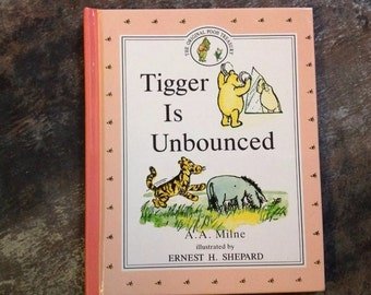 "Vintage Children's Book ""Tigger is Unbounced"", Winnie Pooh Milne Shepard 1992 Dutton The Original Pooh Treasury Hardcover Storybook"