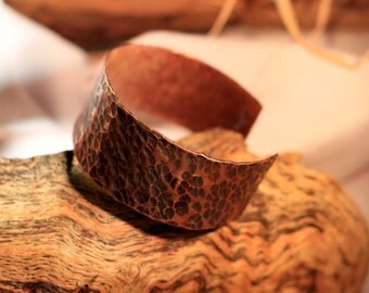 Hammered Copper Cuff // Open Copper Bracelet Gift for Him Gift for Dad