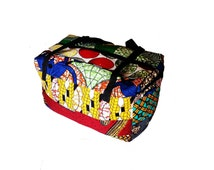 African print travel bag gym bag ankara wax print hippie bag colorful bags africa ghana shop patchwork cotton wholesale store fashion wear