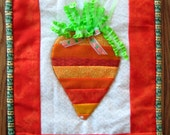 Carrot Wall Hanging, Spring Wall Decoration, Carrot Fabric Wall Art,Quilted Carrot Wall Hanging,Spring Home Decor Carrot,Welcome Spring Gift