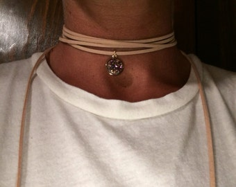 Sueded Wrap Choker