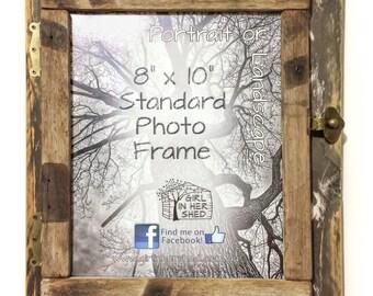 """Rustic 8""""x 10"""" Hinged Frame, Natural/Rustic"""