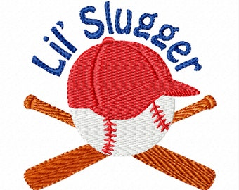 Lil Slugger -A Machine Embroidery Design for Little Baseball Fans