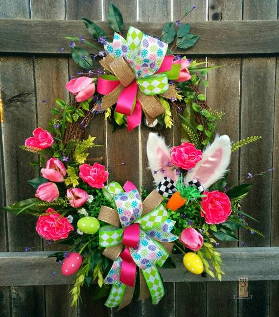 Easter Bunny Wreath Bunny Wreath Easter Door By