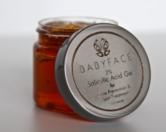 Babyface Organic 2% Salicylic Acid Gel Acne & Blackhead Remover Spot Treatment, 2.3 oz.
