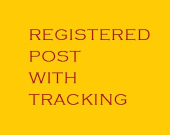 Registered Airmail Upgrade (Includes Tracking Number + Insurance)