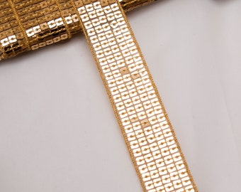 5 Metres x 5 Row Sequin Braid. 25mm approx [Trim Ref T1451]